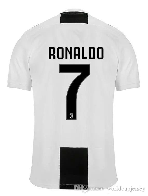 a1fed04b4 New RONALDO Soccer Jerseys 18 19 JUVE 2018 Home White Black DYBALA ...