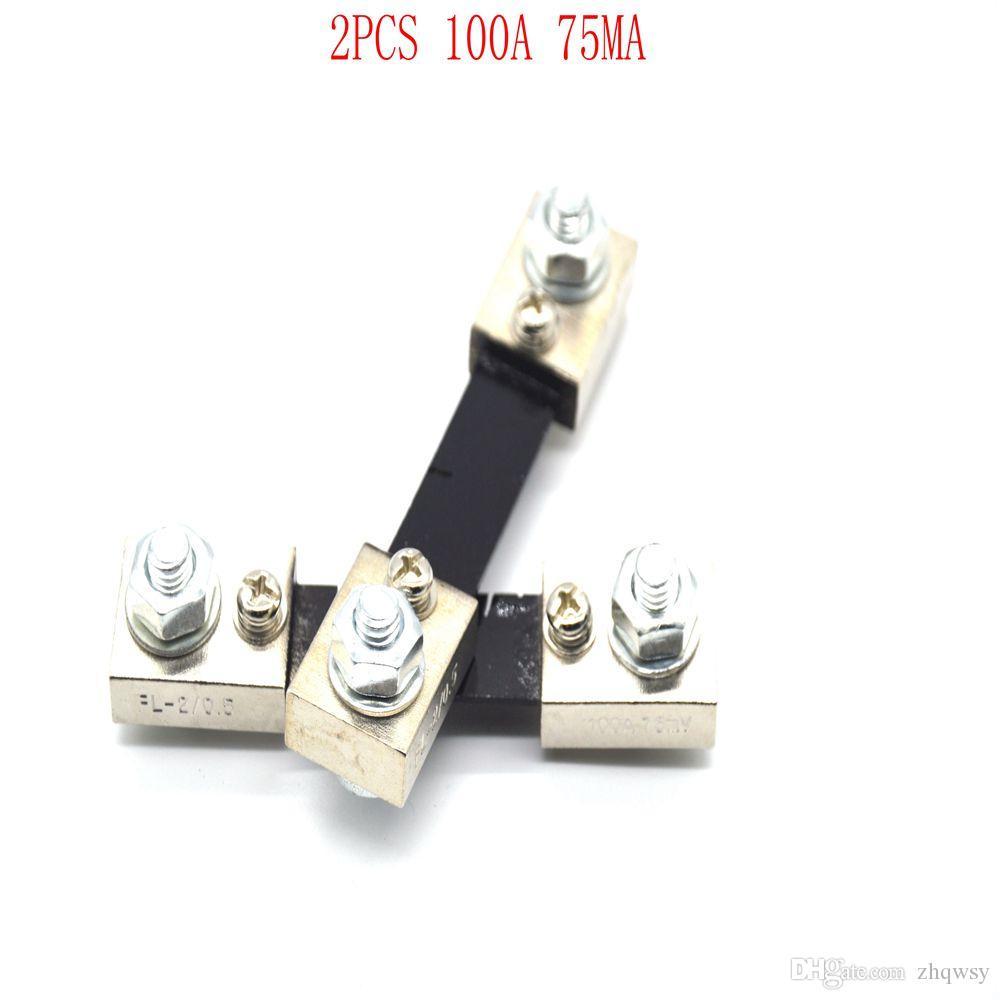100A75MVDC shunt Ampere Parallel Resistor Amp Panel Meter Ammeter Shunt Current Tester Digital Ampere Panel Meter Current Shunt Resistor