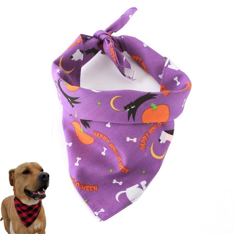 2018 Halloween Pet Dressing Saliva Towel Christmas Dog Christmas Tree Triangle Scarf Headscarf Cat Collar Pet Supplies Package Sales From Acloud