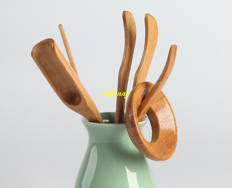Natural Bamboo Tea Spoon clip leak Tea needle teaspoon Kung Fu Tea Set