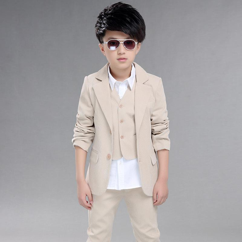 2eee11b3bf 2019 Costume For Marriage Kids Formal Blazer Clothes Wedding Boy Sits Jacket +Pant+Vest+Tie Latest Coat Pant Designs 723 From Edward03
