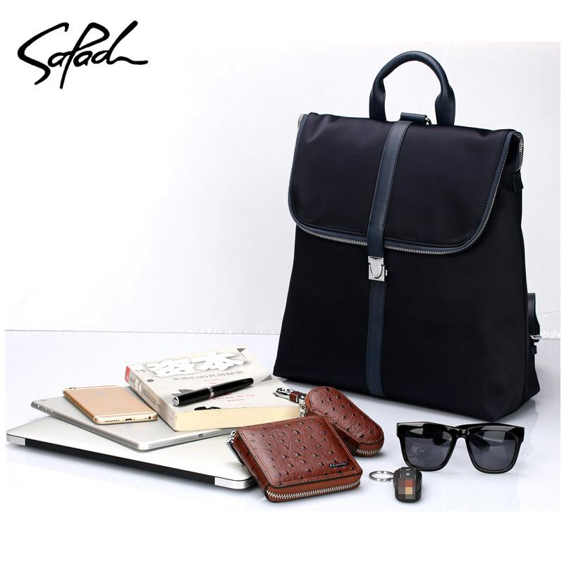 b199ec1bb63 SAPAOL Women Fashion Backpack Male Travel Backpack Mochilas School Mens  Leather Business Bag Large Laptop Shopping Travel Bag Backpacks For Girls  Waterproof ...