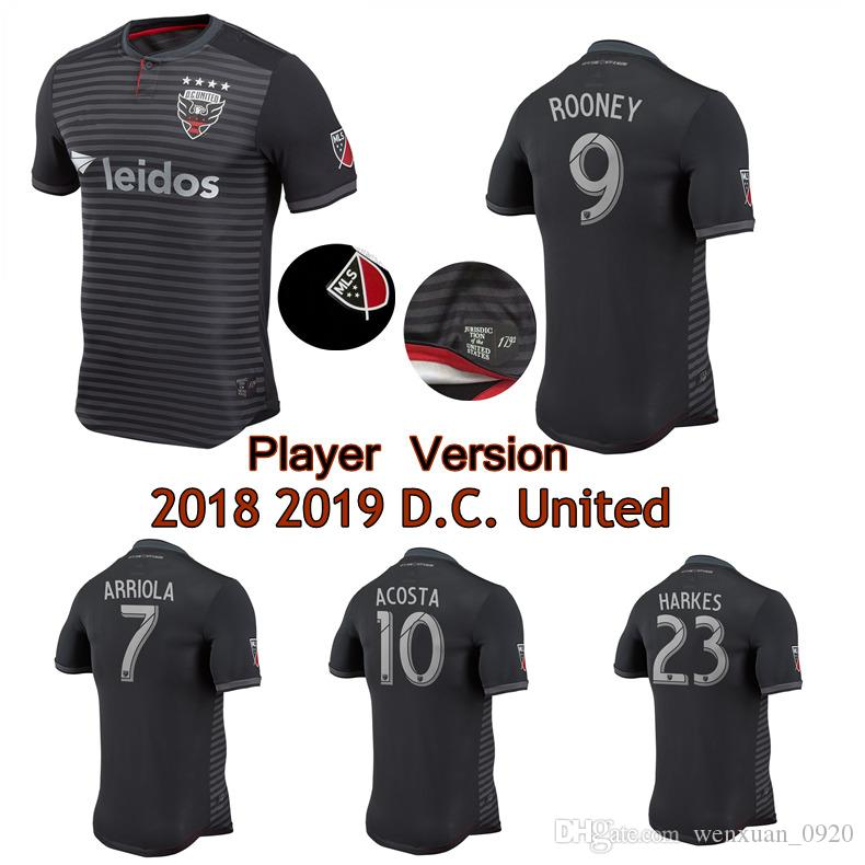 9ba39812f09 Player Version 2018 2019 D.C. United Jerseys 18 19 Home ROONEY ...