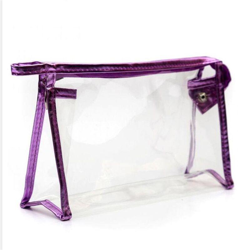 Mode sac à cosmétiques cas cosmétiques sacs de maquillage dame lavage sac transparent sacs de rangement de sacs étanches de voyage en PVC