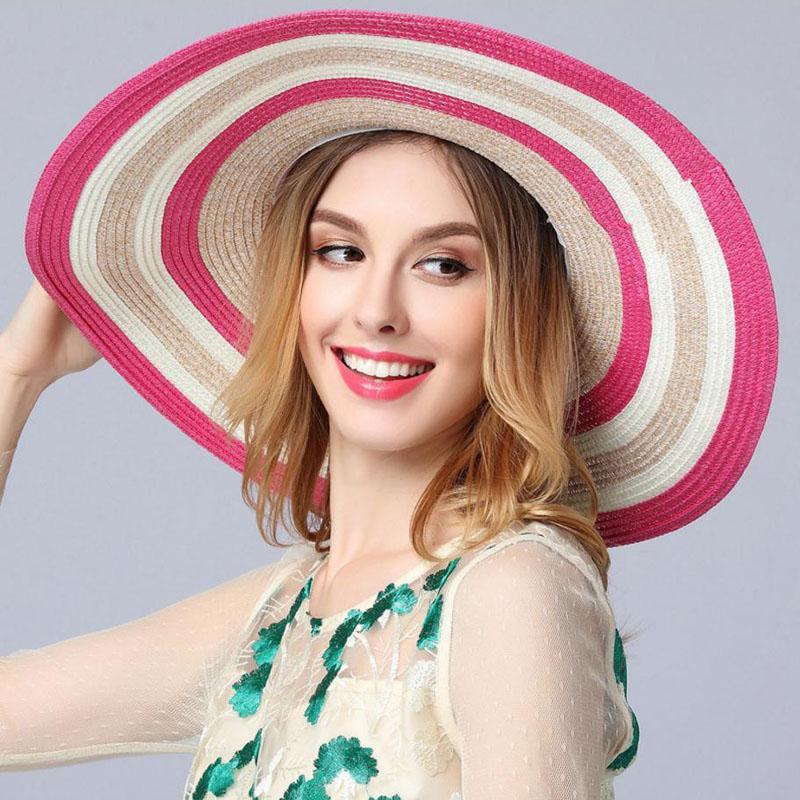 Compre Nuevo Verano Elegante Gorra De Verano Mujeres Arco Gran Borde  Sombrero De Paja Dropshipping Jn050 A  21.02 Del Heathere  67d1130bfe8