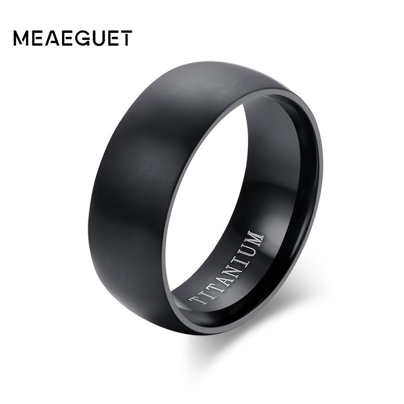 Grosshandel Meaeguet Mode Herren Schwarz Titan Ring Matt Fertige