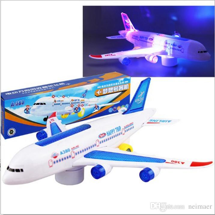 Electric Aircraft Modle Plastic Airbus A380 ,Electric Flash Light