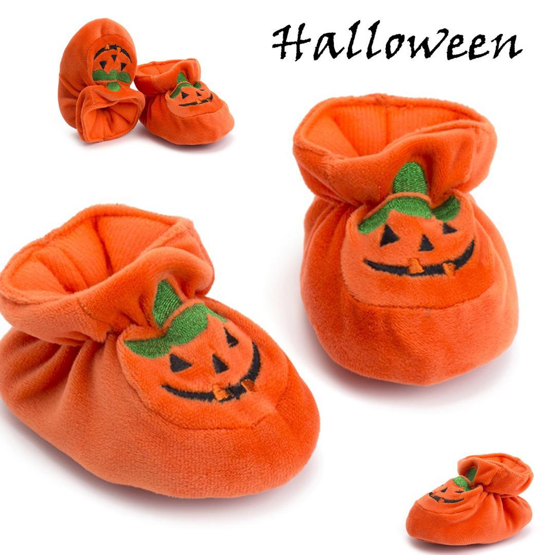 Newborn Baby Boots Girl Fitness Soft Sole Crib Shoes Anti-slip Pumpkin Prewalker