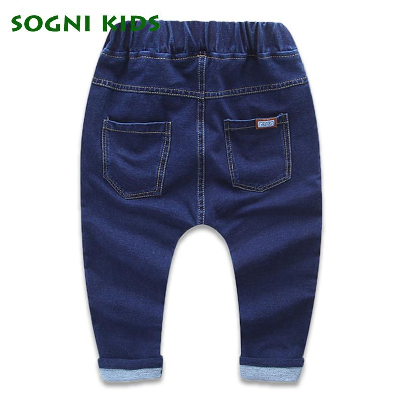 Baby Girls Boys Jeans For New Year Spring Autumn Long Demin Infantil legging Pants Children Cotton TrouserFashion Kids Clothes