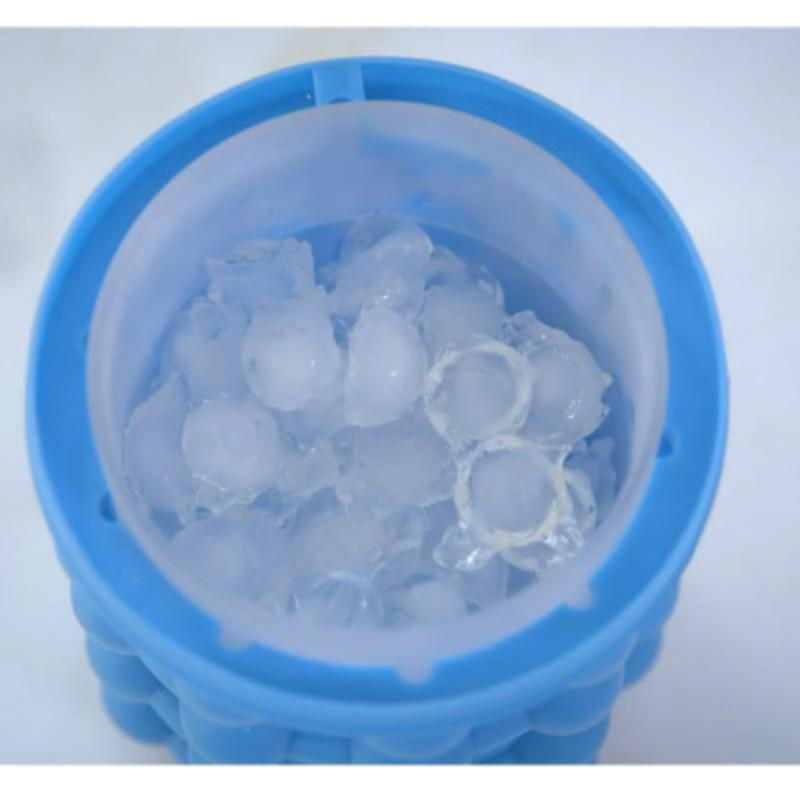 100 pcs Ice Cube Cavity Silicone Tray Ice Cubes Maker Space Saving Ice Cube Maker Tool Blue Color 13*14cm