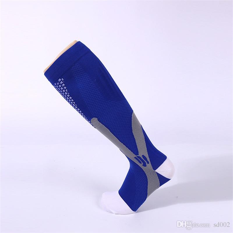 Magic Compression Run Socks Nylon Yarn Rubber Welt Fútbol medias Wear Resisting Elasticity Ventilación cómoda de alta calidad 12wy X
