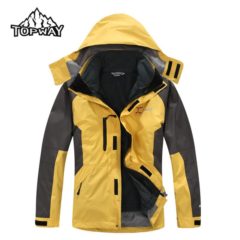 b9cd08c6b Winter 3in1 Windbreaker Trekking Jaqueta Masculina Outdoors Jacket Men  Thermal Veste Homme Coat Waterproof Chaqueta Hombre Cool Jackets Cheap  Leather ...