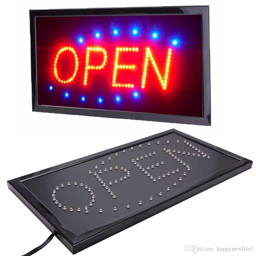 الحركة الساطعة الجديدة التي تعمل بنظام نيون LED Business Store Shop OPEN Sign with Switch US plug