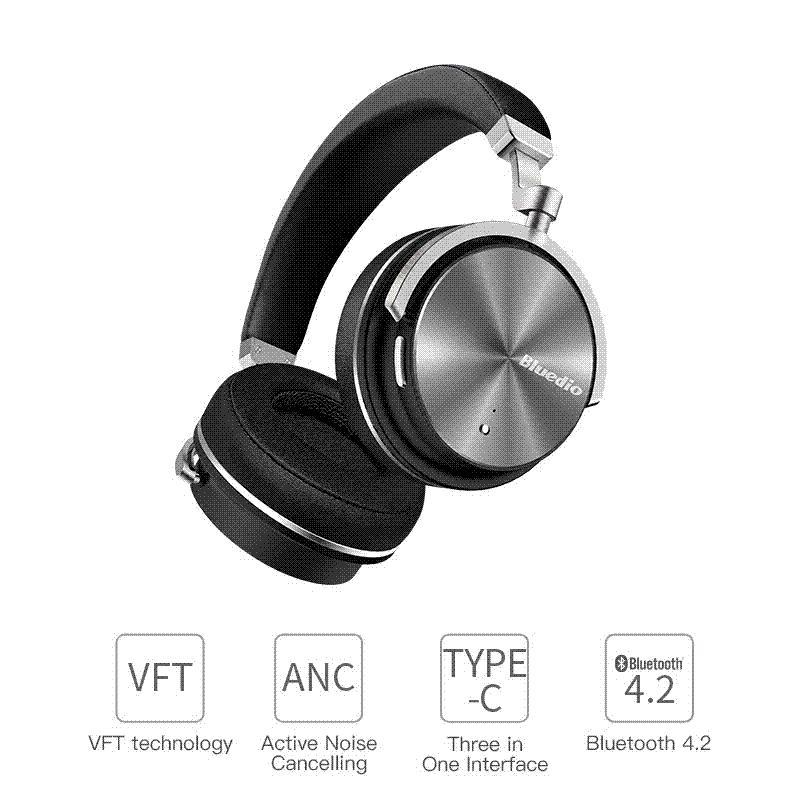 203914a1e33 Compre 2017 Nuevos Auriculares Bluetooth Inalámbricos Con Cancelación De Ruido  Activa Bluedio T4S Junior Edición ANC Alrededor De Los Auriculares Con  Oreja ...