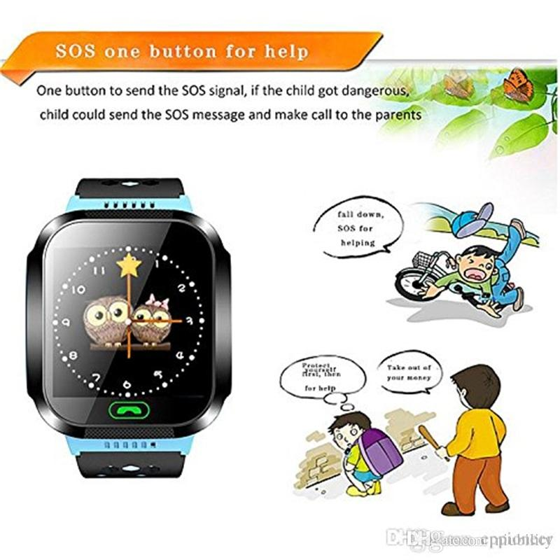 Cute Sport Q528 Kids Tracker Smart Watch con Flash Touch Touchscreen SOS Call LBS Location Finder kid Child PK Q50 GPS tracker in scatola