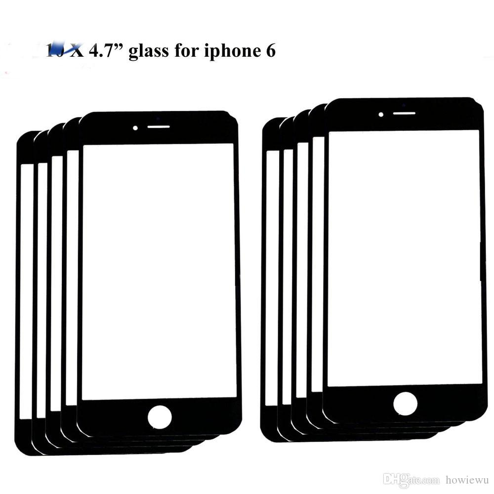 "high quality Replacement LCD Front Touch panel Glass Outer Lens for iphone 6 6g 4.7inch / 6 Plus 5.5"" Black White colour"