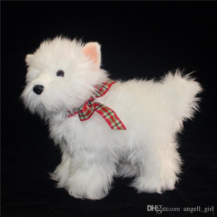 2019 Kawaii White Dog Plush Doll Simulation Animals West Highland