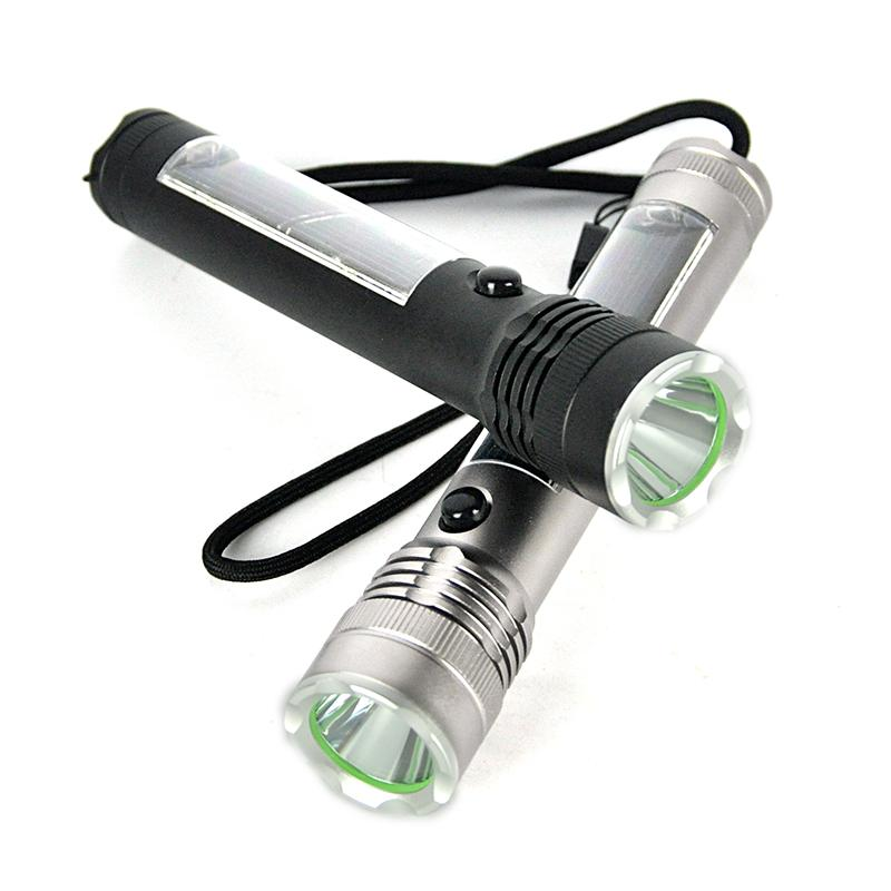 Portable Lighting Flashlights & Torches Bright Black Plastic White Light Press Button Usb Led Lamp Torch Dropshipping