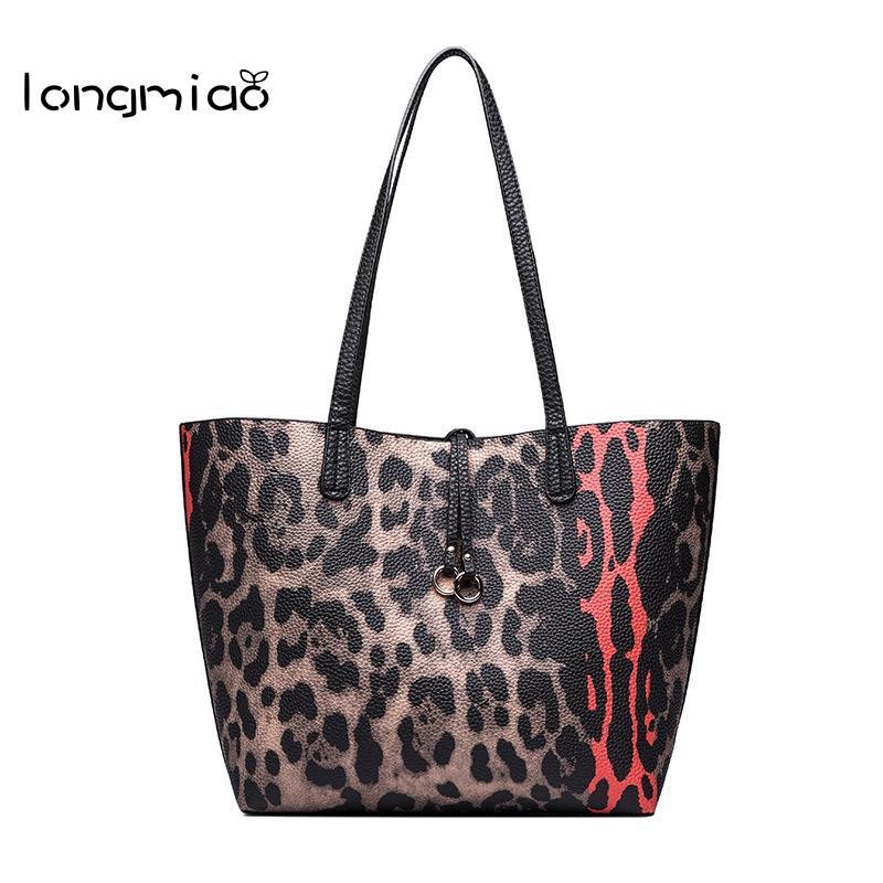 a21e61ac8 Longmiao Woman Leopard Handbags Casual Tote Designer One Shoulder Shopping  Bag Vintage Female Large Capacity Composite Bag Shoulder Bags Cheap  Shoulder Bags ...