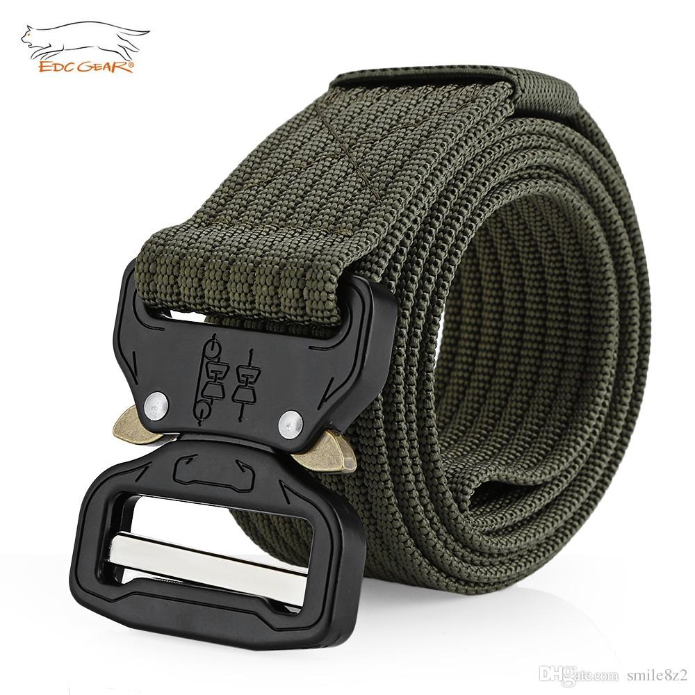 EDCGEAR Tactical Belt Military Webbing Rigger Web Strap with Quick Release  Buckle Army Belt Webbing Rigger Web Strap With Quick Release Buck