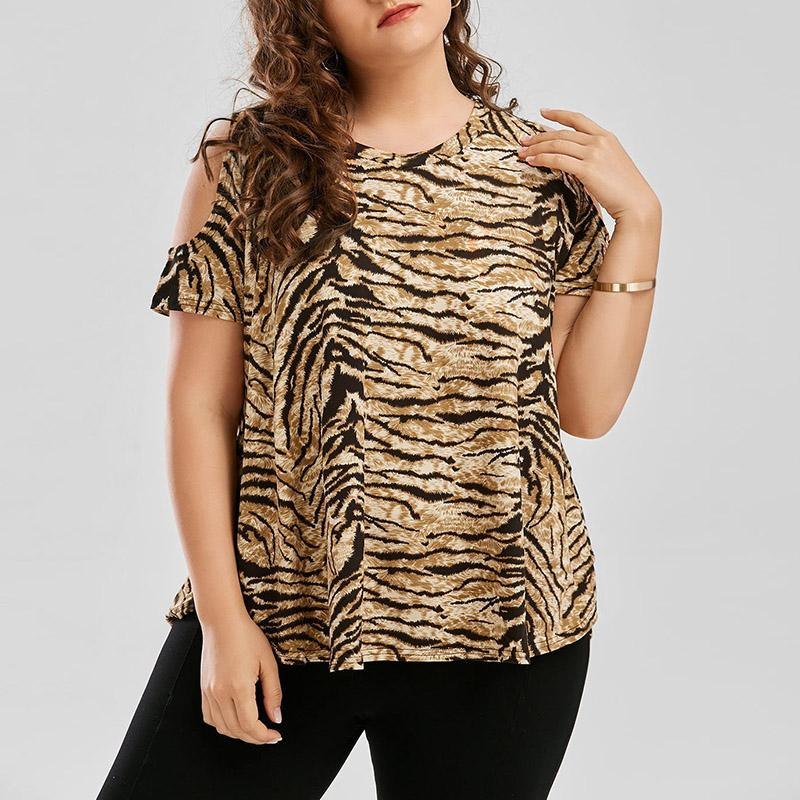 e3c3ae1fefe Maternity Clothes Summer 2018 Women Shirts Casual Loose Short Sleeve  Leopard Printed T Shirts Off Shoulder Tee Tops Plus Size UK 2019 From  Fragranter