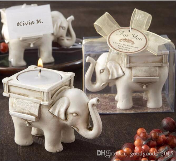 ab979436dfaa7 Fashion Style Resin Ivory Lucky Elephant Tea Light Candle Holder ...
