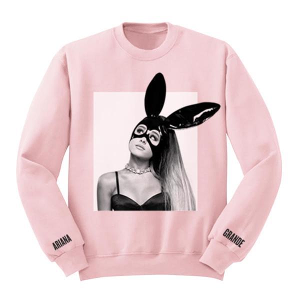 113a3562adea Acquista Esclusiva Top Quality Ariana Grande Dangerous Pink Felpa Donna Uomo  Stampa Casual Felpa Hip Hop Streetwear Felpa Con Cappuccio Sudaderas A   39.77 ...