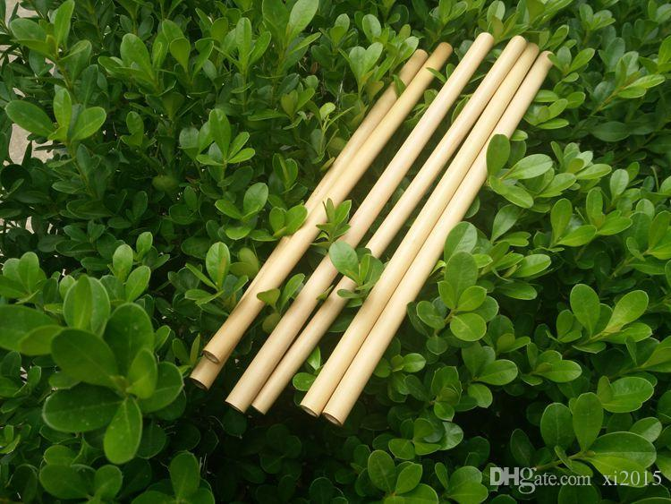 Natural Bamboo Drinking Straws Juice Water Beer Straw Reusable Eco Friendly Tubularis for Party Birthday Wedding wen6759