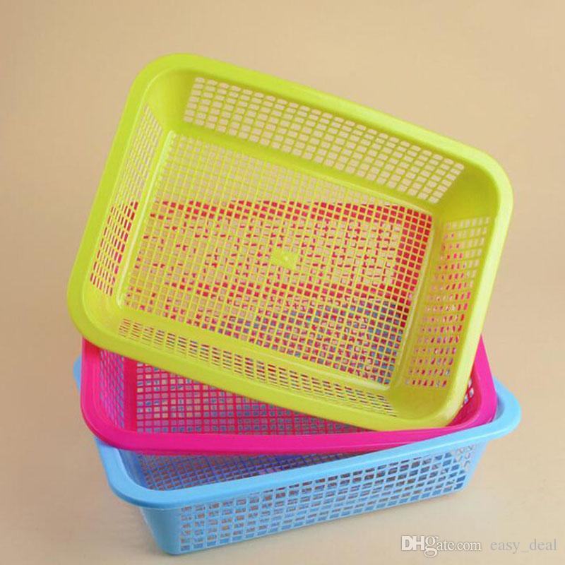 2018 Rectangular Plastic Storage Baskets 35*26.5*8.7cm Large Bathroom  Cosmetic Seasoning Orgainzer Kitchen Desktop Organizer Za5919 From  Easy_deal, ...
