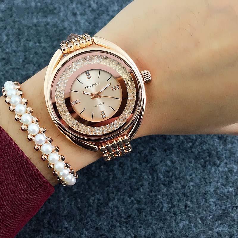 63fba7517c1 Großhandel Top Marke CONTENA Uhr Frauen Uhren Roségold Armbanduhr ...