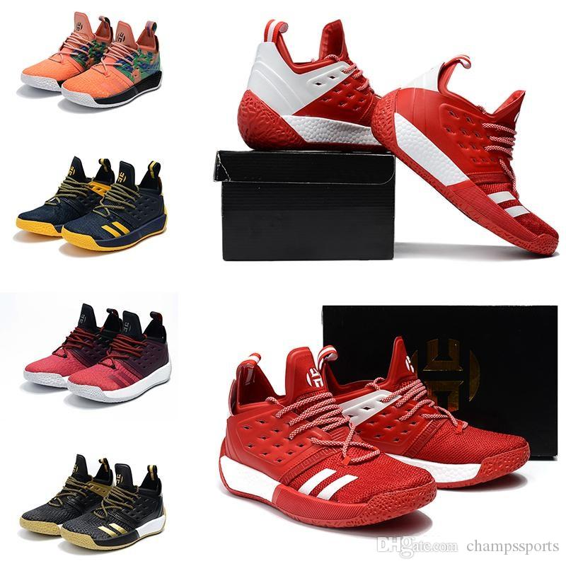Sale 2018 Harden Vol. 2 Mens Basketball Shoes Black White Orange Fashion James Harden Shoes Sneakers Size EUR 40-46 discount 100% authentic kzyWoNicM
