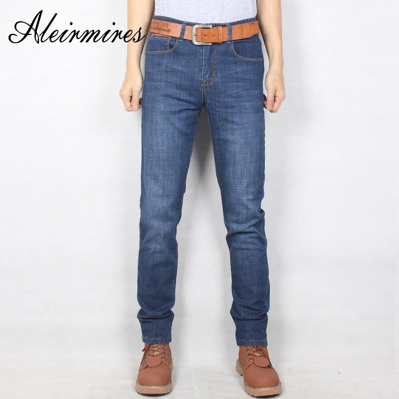 452068af08f1c 2019 Aleirmires Plus Size Jeans Stretch For Men 2018 New Autumn Good  Quality Scratched Slim Elastic Mens Skinny Denim Pants Big Size From  Pingpo