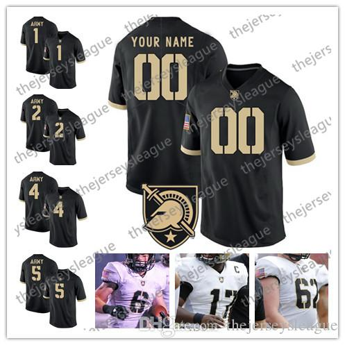 e2fd7742dc898 Army Black Knights Custom Any Name Any Number Stitched Black White #2 James  Gibson 5 Kell Walker NCAA College Football Jersey