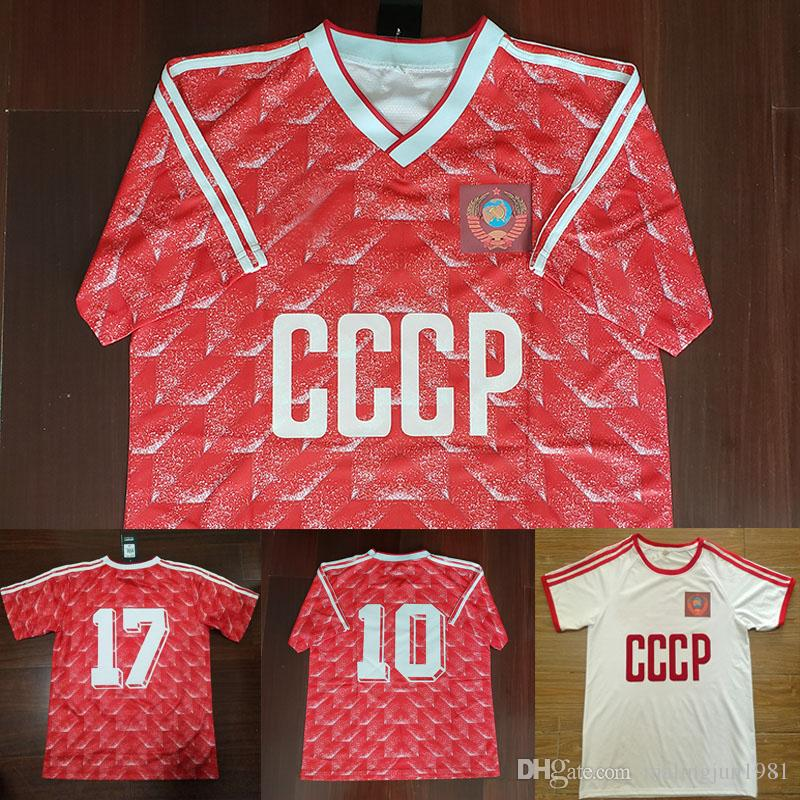 Acquista Velvet Number 88 Retro USSR Home Mikhailichenko Red CCCP 1988  Unione Sovietica Belanov White Fuori Away Maglia Da Calcio Vintage Camicie Da  Calcio ... 2b2040959