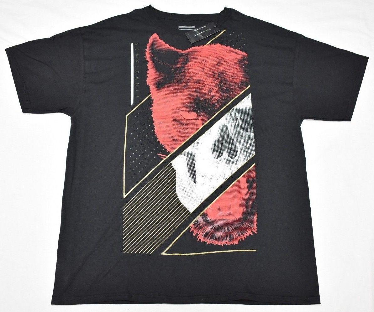02158678e NWT NEW Mens Sean John T Shirt Wolf Skull Graphic Tee Black Urban Size XL  N613 Awesome T Shirts Online A T Shirts From Caisemao1, $11.68| DHgate.Com