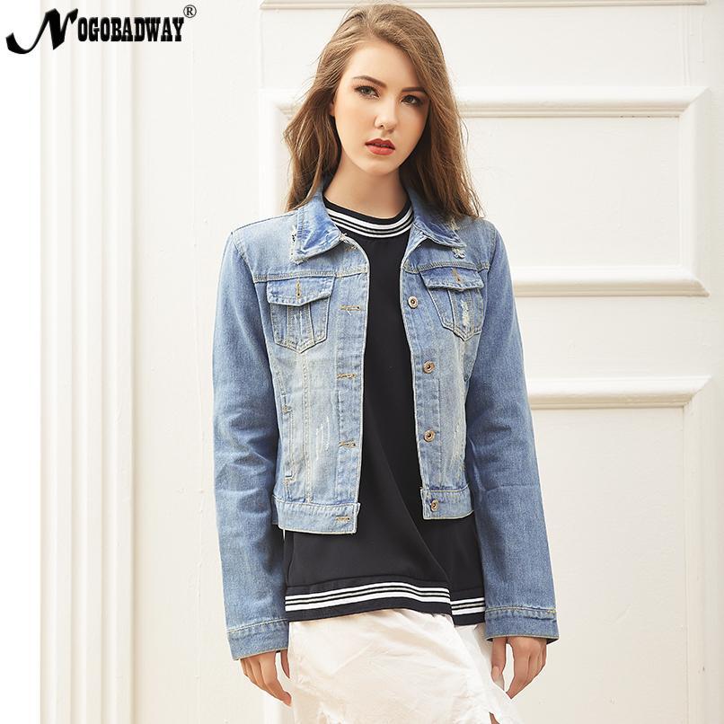 f702d8ae3a635 S 5XL Denim Jacket Women Autumn Casual Jeans Coats Short Korean Vintage  Ladies Female Clothing Plus Size Oversized Outerwear Suede Jackets Brown  Leather ...