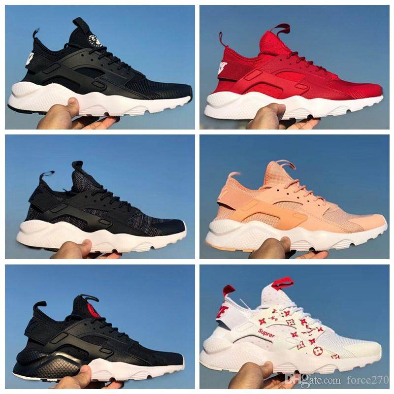 545cd735ee07a 2018 Off New Air Huarache Ultra Run 4 IV Running Shoes For Men Women Mesh  Huaraches White Black Athletic Sport Designer Sneakers Chaussures Sandels  Sparx ...
