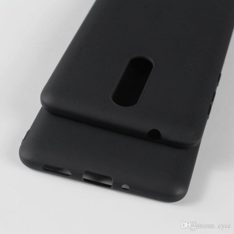 Microsoft için Nokia Lumia 7 Artı 6 2nd 2018 Yumuşak TPU Silikon Mat arka Kapak Koruyucu Telefon Kılıfı