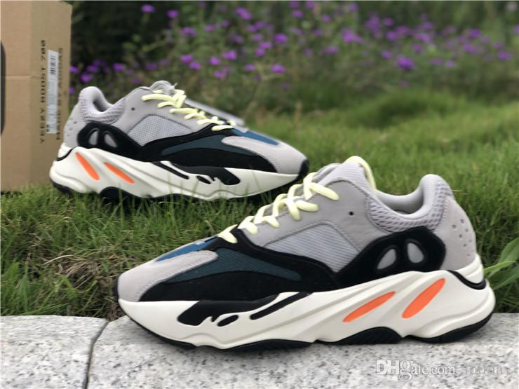 d38c803e5703a 2019 2018 New Kanye West Wave Runner 700 Mens Women Athletic Sport Shoes  Running Sneakers Shoes Eur 36 45 With Box From Loliday