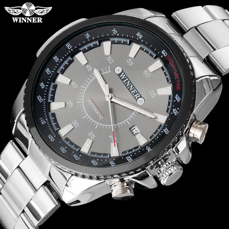 2b9a95a6cd9 Compre VENCEDOR Marca Homens Luxo Automático Auto Vento Relógios Mecânicos  Moda Esporte Relógio Data Auto Aço Inoxidável Relogio Masculino De Duoyun