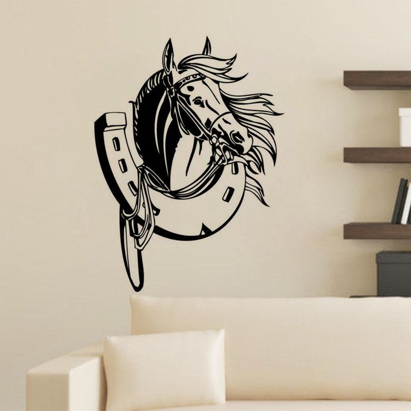 Head Of Horse Wall Stickers Home Decor Adhesive Removable High Quality Vinyl  Wall Decals Animal Kids Room Decoration Wall Vinyls Wall Vinyls Home Decor  From ...
