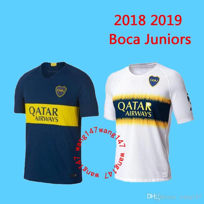 new arrival 8b3c5 92087 2018 19 Boca Juniors Jersey Home Away 18 19 Boca Juniors soccer jerseys  OSVALDO CARLITOS PEREZ P GAGO football shirt S-XXL