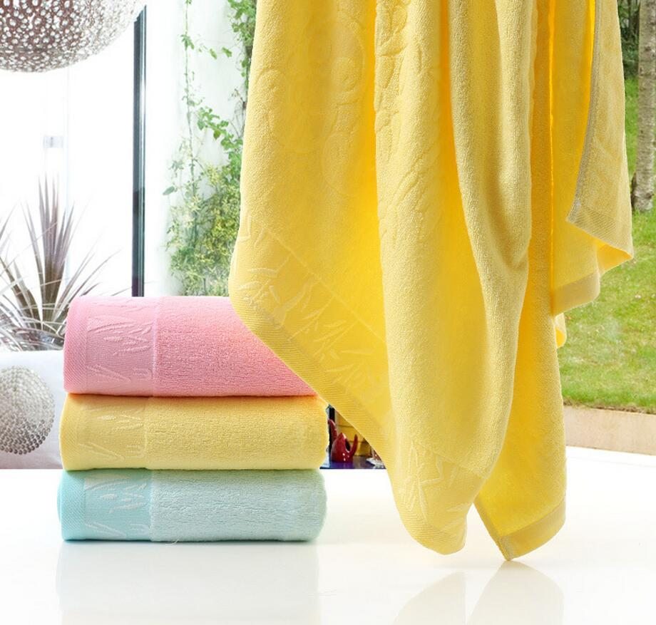 "New 140x70cm (27x55"") Bamboo Fiber Bath Towel Solid Pink Soft Towel Home Hotel Towels Quick Absorbency High Quality"
