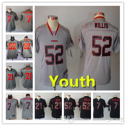 buy online fefbc e52f1 Youth 52 Patrick Willis San Francisco Jersey 49ers 21 Deion Sanders Kids  Football Stitched Jersey 7 Colin Kaepernick Boys Football Shirt