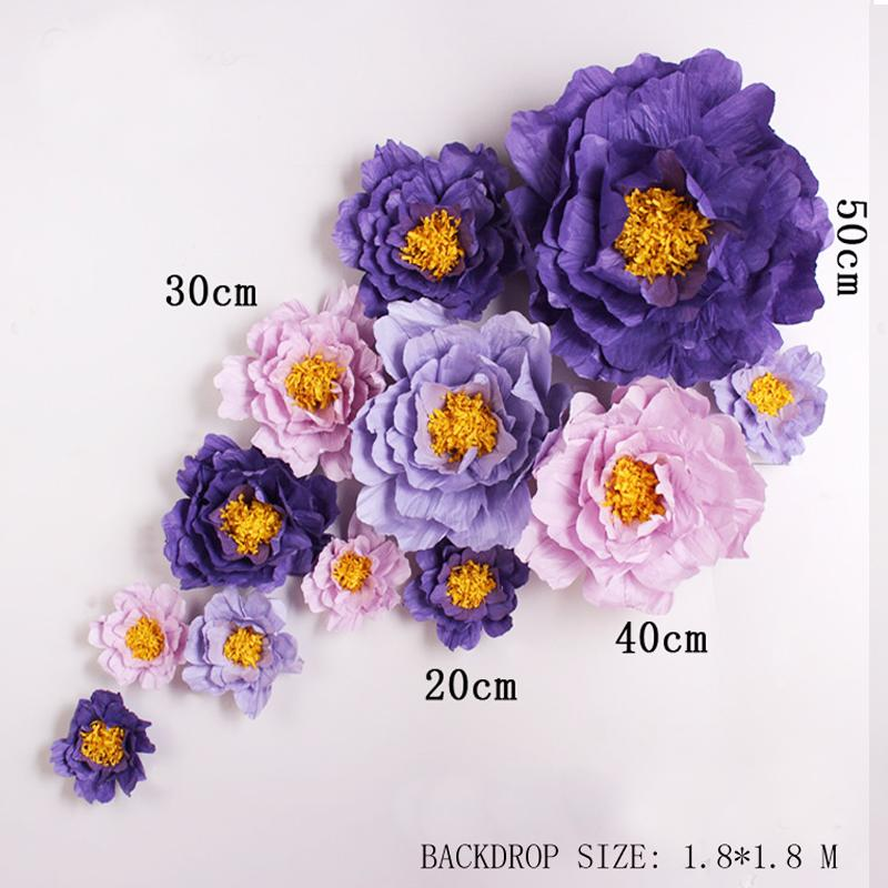 Giant simulation cardboard crepe paper rose flowers showcase wedding giant simulation cardboard crepe paper rose flowers showcase wedding backdrops props flores artificiais para decora o 7 options online with 5198piece on mightylinksfo