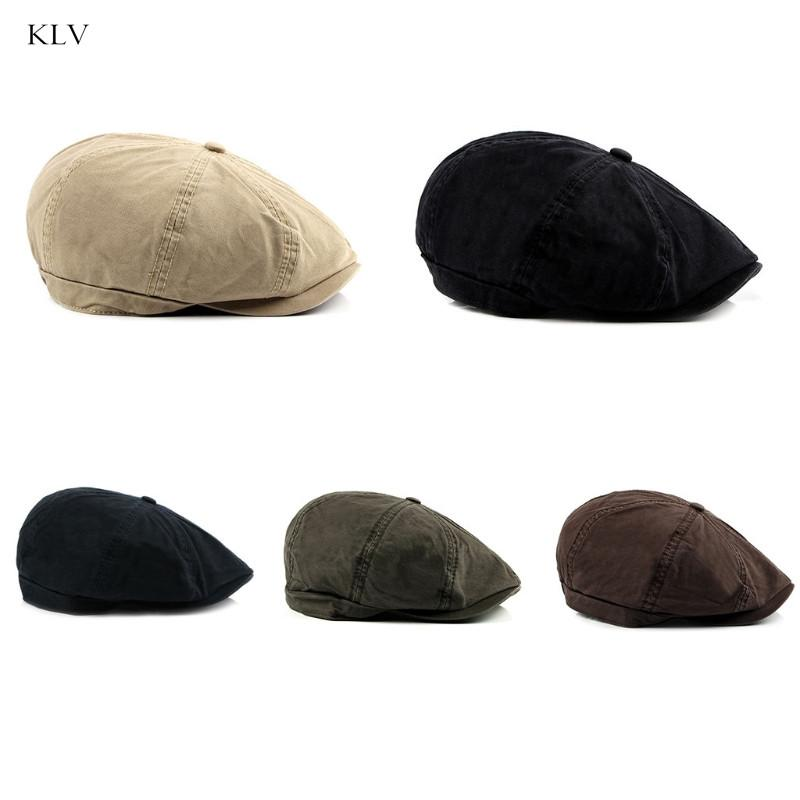 a4a0bf06adb0b Men s Organic Casual Cotton Newsboy Cap Washed Baseball Cap Beret ...