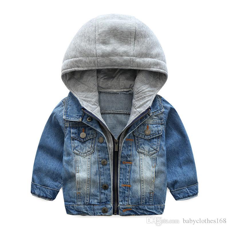 b0bbfbf39 Kids Denim Jacket For Boys Jean Coat Clothing Fashion Causal Girls Cardigan  Children Outerwear Cowboy Toddler Hodded Jackets