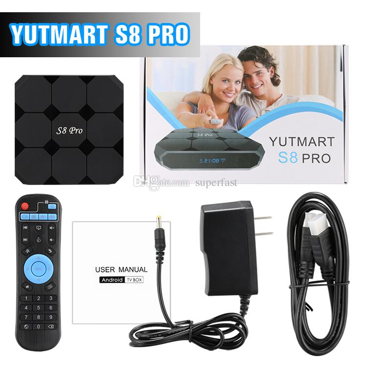 Caixa de TV Android 7.1 TV Box S8 PRO Caixa Inteligente Amlogic S905W 17.6 Krypton 8 GB 16 GB ROM PK MXQ Pro Com Pacote