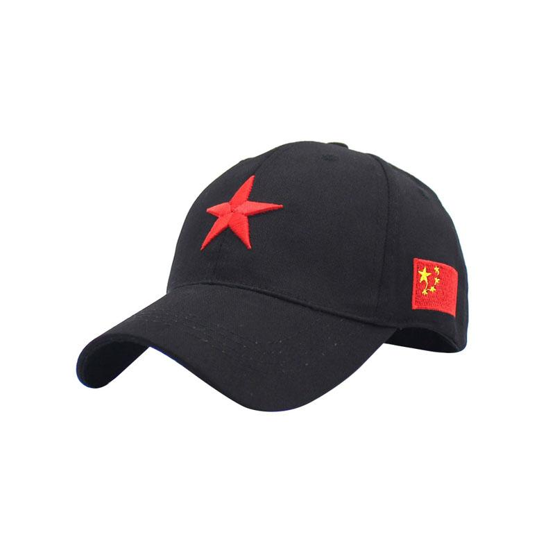 XYKGR Five Pointed Star Embroidered Hat Male And Female Cap Outdoor Sports  Sun Hat Personalized Fashion Curved Army Hats Custom Caps From Buafy 58a3422c33f