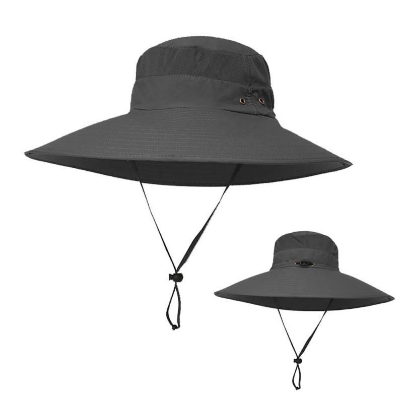 Compre Hombres Mujeres Sombreros De Pesca UPF 50+ Sombrero De Senderismo Al  Aire Libre Verano Protección UV Largo Y Ancho Brim Senderismo Sombrero De  Sol ... c2dcdb118f7